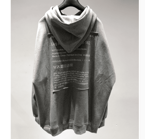 100% cotton Fashionable oversize hooded sweater