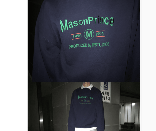 Mason Prince embroidered round neck sweater male and female