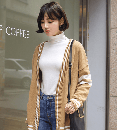 Autumn new Korean version of the loose cardigan sweater