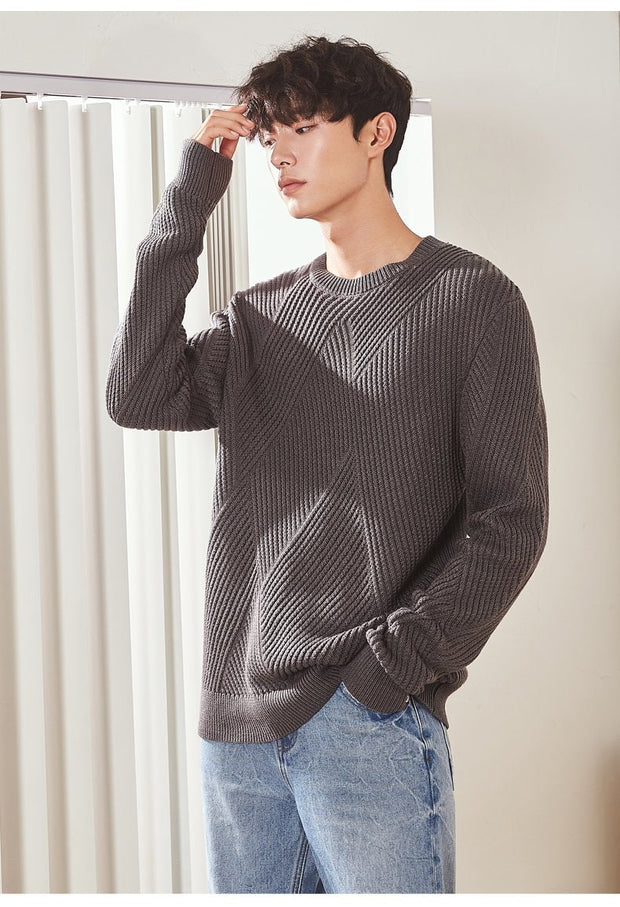 3 Options sweater (low collar, high collar, plane).
