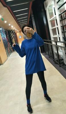 Harajuku solid color loose long-sleeved Tees