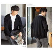 Loose drop cardigan for men