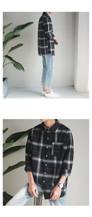 New edging plaid Casual shirts
