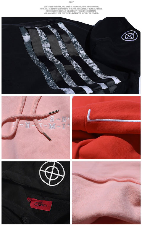 GRKC Streetstyle 3 Back striped hoodies