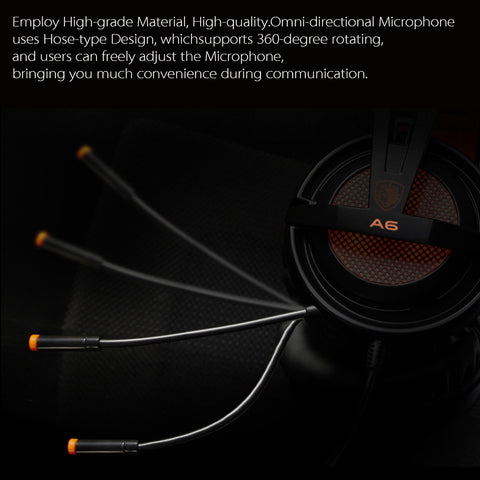 SADES A6 USB 7.1 Stereo wired gaming headphones with mic Voice control