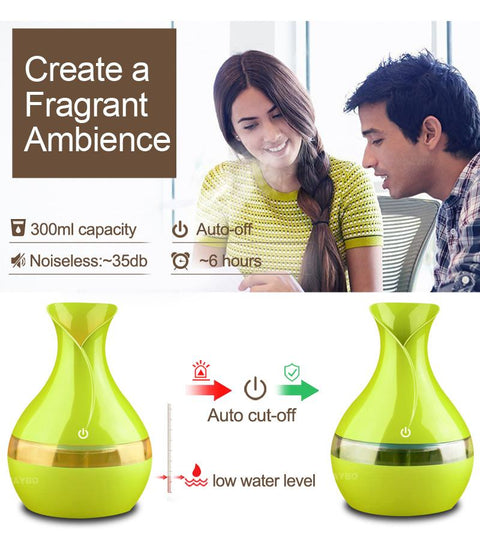 Electric aroma Essential Oil Diffuser 300ml USB Mini Ultrasonic Air Humidifier