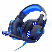 G2000 Computer Stereo Gaming Headphones with Mic LED Light for PC Gamer