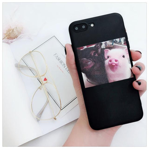 Funny Cartoon Pig Print Phone case