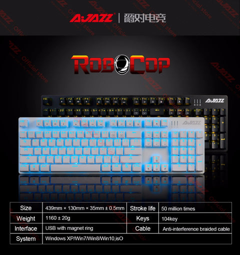 Gaming keyboard mechanical backlit keyboard ergonomic anti-ghosting N-key rollover Brown/Black/Red/Blue Switches