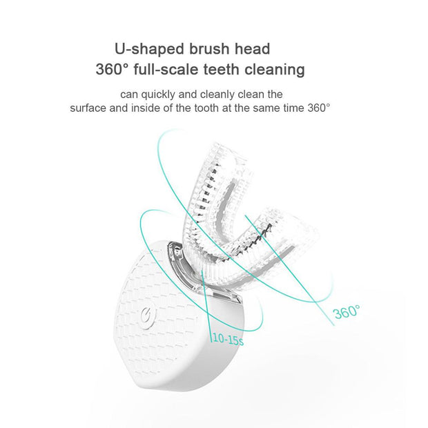 360 Degrees Sonic Automatic Electric Toothbrush USB Rechargeables