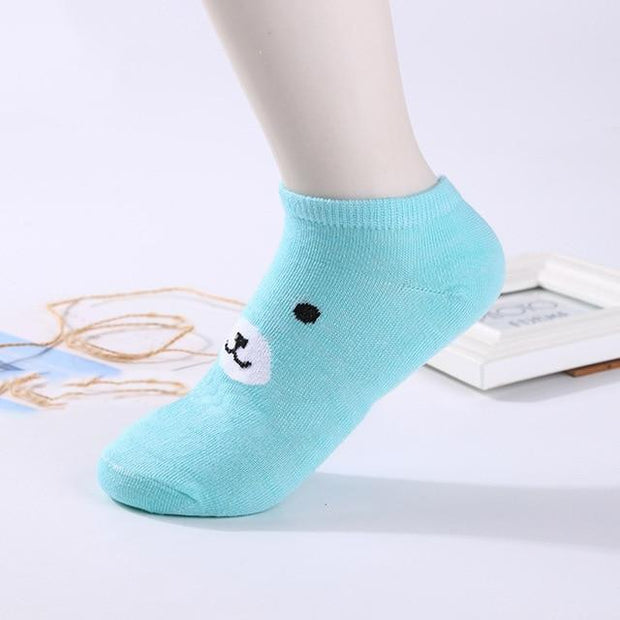 Socks Women Cartoon Printed Casual Kawaii Breathable Cotton