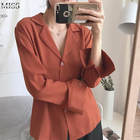 Spring & Fall Long Sleeve Shirts Women Blouses Casual Style - shine