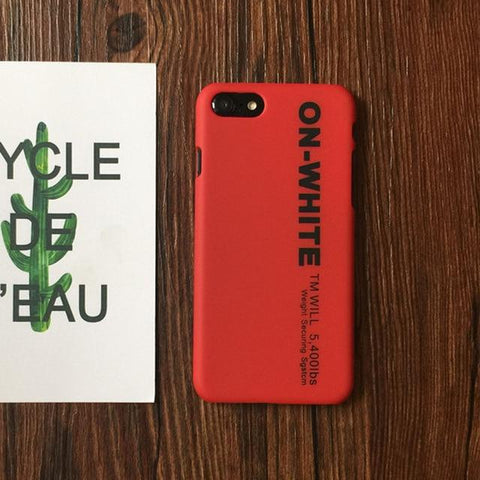 On White Phone case