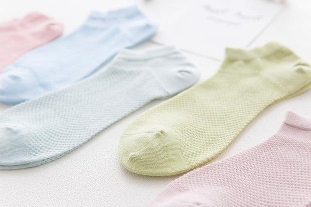 10 Pairs/Lot Summer Thin Ankle Socks 10 Colors Pack