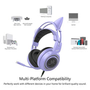 G951 Girl Cat Ear Gaming Headphone 3.5mm Plug or USB plug