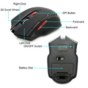 2000DPI 2.4GHz Wireless Optical Mouse Gamer for PC Game