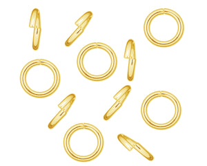 Solid 9ct Yellow Gold 4mm Open Medium Weight Jump Rings For Jewellery Making