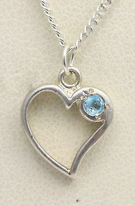 BJC® Sterling Silver Blue Topaz Heart Drop Pendant & Optional Silver Necklace