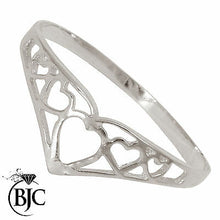 Load image into Gallery viewer, BJC® Sterling Silver 925 Filigree Wishbone Designer Dress Ring Size J -Y  W19