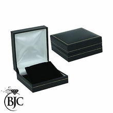 Load image into Gallery viewer, BJC® Black Leatherette & Velvet Earring Earrings Gift Presentation Box Brand New