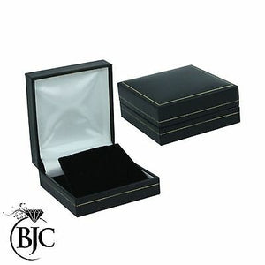 BJC® Black Leatherette & Velvet Earring Earrings Gift Presentation Box Brand New