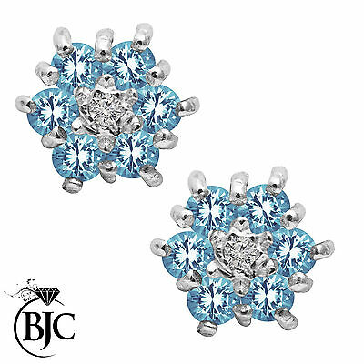 BJC® 9ct Yellow Gold Natural Topaz & Diamond Cluster Stud Earrings Studs ER6