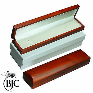 BJC® Natural Mahogany Bracelet / Watch Box Wooden Wood Jewellery Gift Box