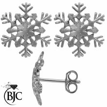 Load image into Gallery viewer, BJC® Sterling Silver Snowflake Unique Design Individually Handmade Snow Flakes