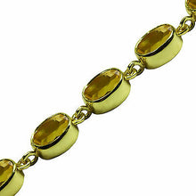 Load image into Gallery viewer, BJC® 9ct Yellow Gold Natural Citrine 21.00ct Oval Gemstone Tennis Bracelet 7.5
