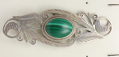 BJC® Sterling Silver Natural Malachite Nature Brooch Pin Brand New In Box