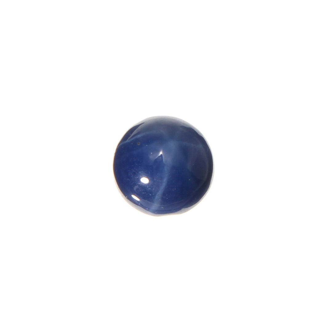 Natural Untreated Loose Cabochon Round Blue Sapphire 4.9mm x 4.9mm 1.34ct