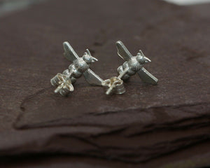 BJC® Sterling Silver Honey Bee Nature Stud Earrings Handcrafted to Perfection