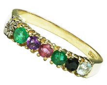 Load image into Gallery viewer, BJC® 9ct Yellow Gold DEAREST Ring Diamond Emerald Amethyst Ruby Sapphire Topaz