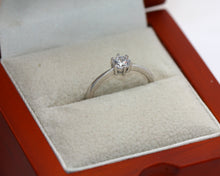 Load image into Gallery viewer, Sterling Silver 925 Cubic Zirconia Brilliant Round Solitaire Engagement Ring Size L