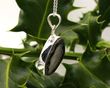 Load image into Gallery viewer, BJC® Sterling Silver Black Agate Druzy Druzzy Geode Quartz Pendant & Necklace DP24