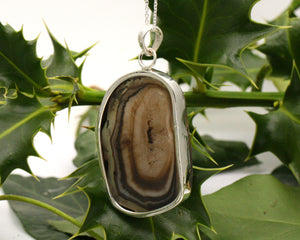 BJC® Sterling Silver Black Agate Druzy Druzzy Geode Quartz Pendant & Necklace DP26