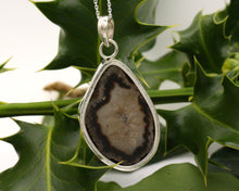Load image into Gallery viewer, BJC® Sterling Silver Black Agate Druzy Druzzy Geode Quartz Pendant & Necklace DP31
