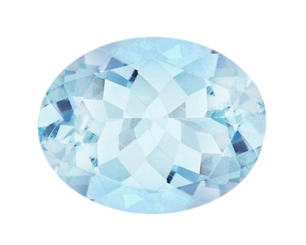 BJC® Loose Natural Oval Cut Blue Topaz 100% Natural 5mm x 3mm - 10mm x 8mm