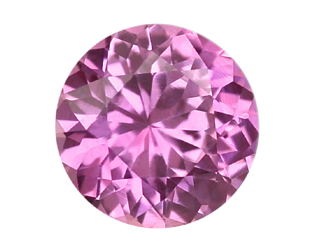 Loose AAA+ Quality Cubic Zirconia CZ Round Pink Brilliant Cut Gemstones