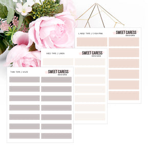 Transparent Tape Planner Stickers