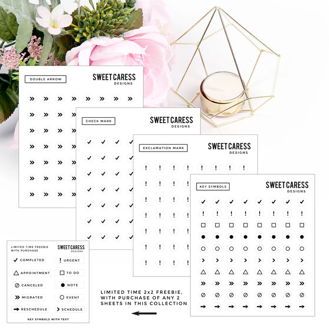 Transparent Symbol Mini Sheets
