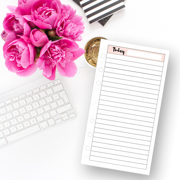 *DIGITAL* Today Planner Insert - Instant Download