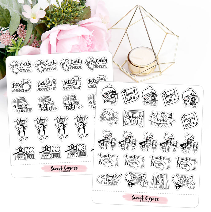 Ellie Planner Stickers - School
