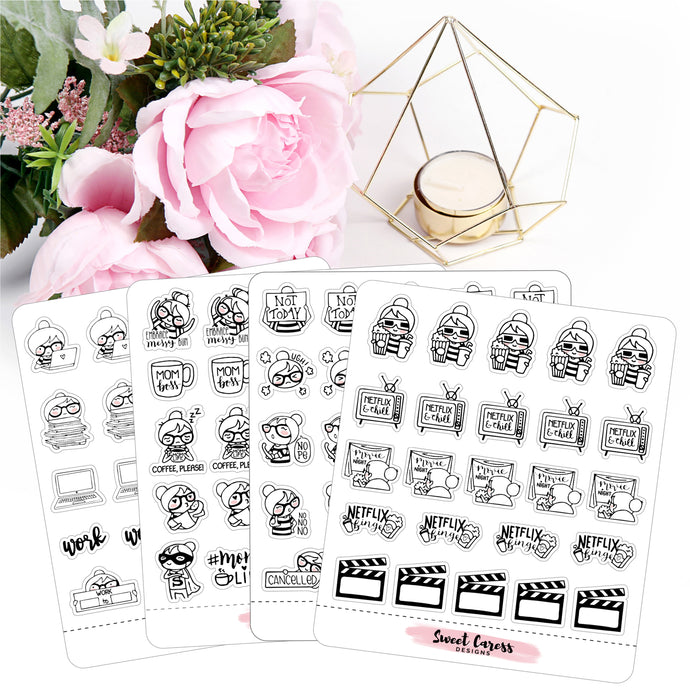 Ellie Planner Girl Stickers