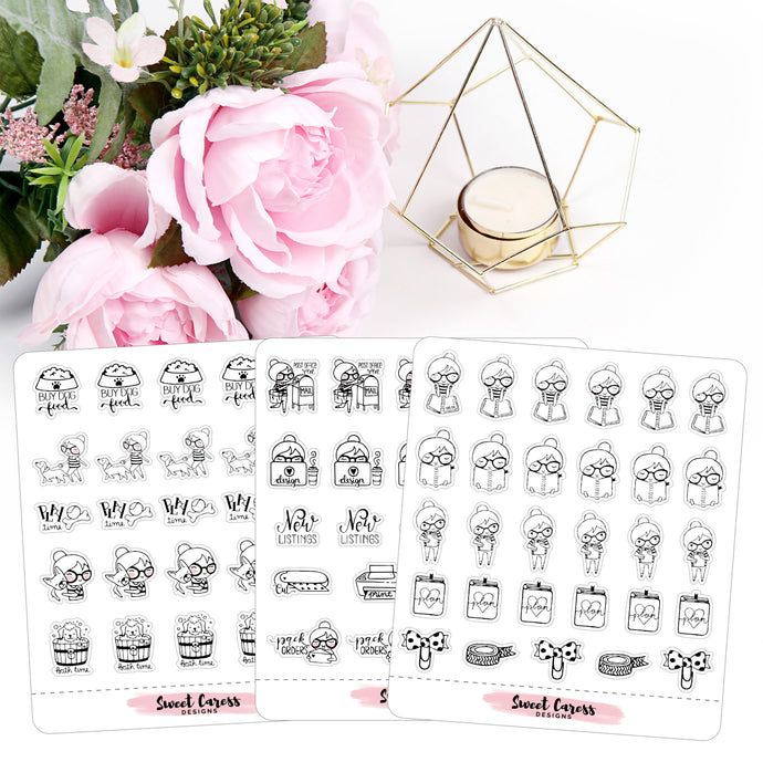 Ellie Planner Stickers (Girl Boss, Plan, Pet)