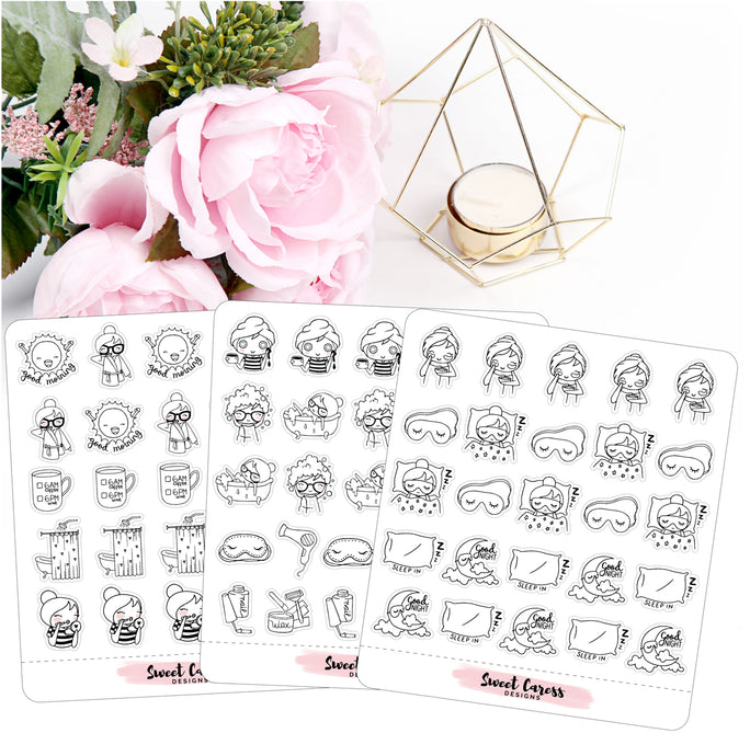 Ellie - Pamper / Routine Planner Stickers