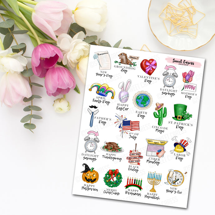 Holiday Calendar Planner Stickers