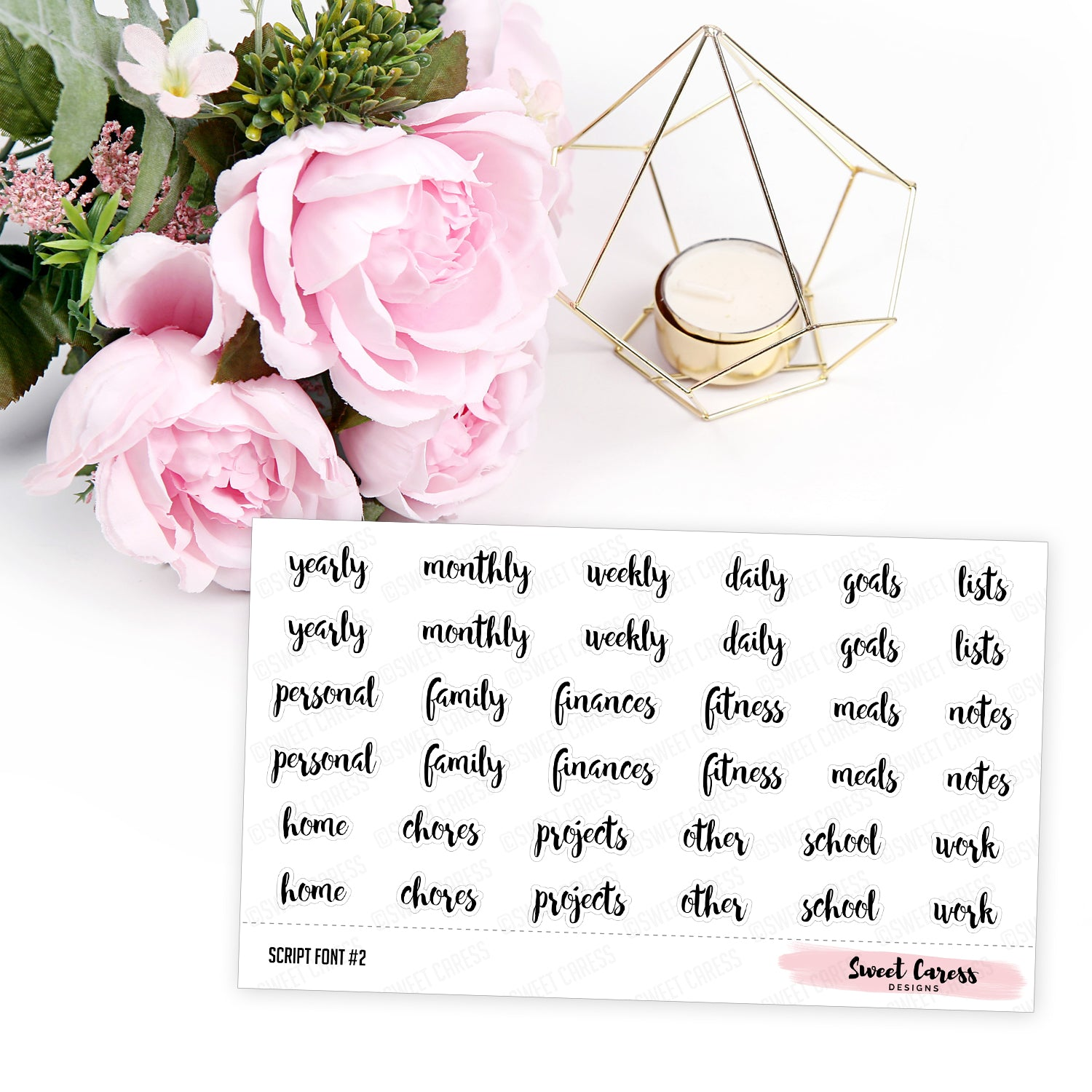 Create your own planner divider sticker labels