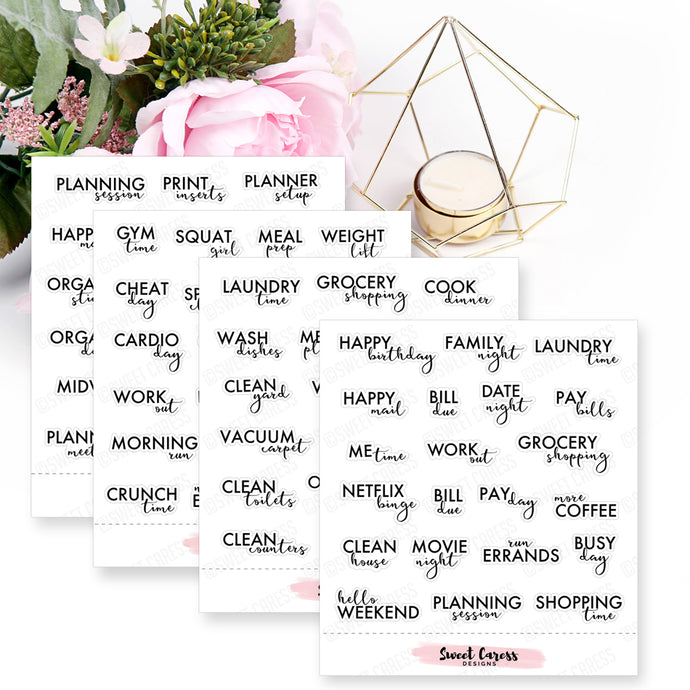 Tiny Planning Phrases - Mini Sheet