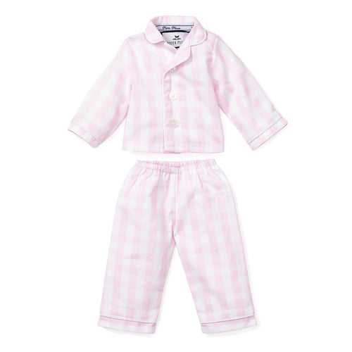 Pink Gingham Doll Pajamas